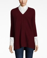 Charter Club Petite Cashmere Textured V Neck Sweater Only At Macy's Cc Crantin