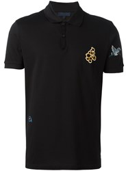 Lanvin Embroidered Patch Polo Shirt Black