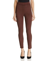 Karen Millen Faux Suede Leggings Chocolate
