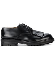 Alexander Mcqueen Fringed Rubber Sole Derby Shoes Men Leather Rubber 42 Black