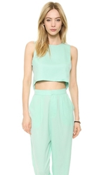Re Named Open Back Crop Top Waterfall