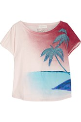 Faith Connexion Printed Cotton Jersey T Shirt Pastel Pink