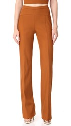 Narciso Rodriguez High Waisted Trousers Copper