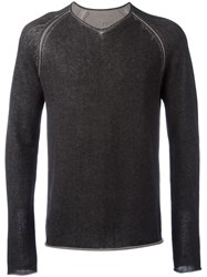 Label Under Construction Scoop Neck Jumper Grey