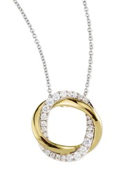 18K Gold Interlocking Halo Diamond Pendant Necklace Frederic Sage