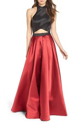 La Femme Women's Mock Two Piece Ballgown