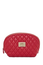 Love Moschino Quilted Cosmetic Pouch Red