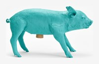 Areaware Bank In The Form Of A Pig Black Gold Pink