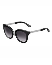 Jimmy Choo Fabry Square Metallic Sunglasses Black