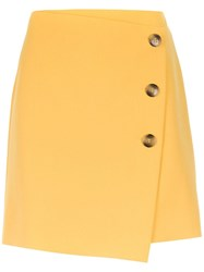 Spacenk Nk Buttoned Mini Skirt Yellow