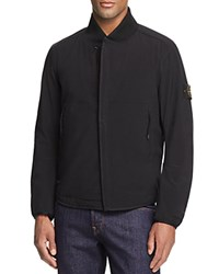 Stone Island Short Shell Baseball Jacket Black