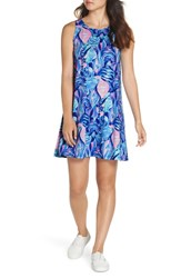 Lilly Pulitzer Kristen Shift Dress Twilight Blue Scale Up