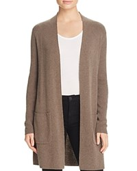 Bloomingdale's C By Cashmere Open Cardigan Heather Rye