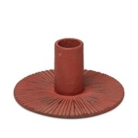 Ferm Living Cast Iron Candle Holder Red