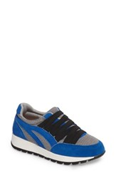 Bernie Mev Women's Tara Cano Sneaker Royal Blue Grey Fabric