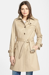 Pendleton 'Pacific Crest' Single Breasted Trench Coat Khaki