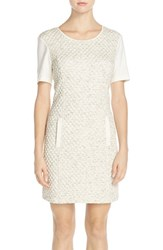 Women's Tart 'Emmerson' French Terry Sheath Dress Cream Black