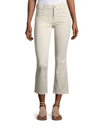 J Brand Selena Mid Rise Cropped Boot Cut Jeans Silver Birch