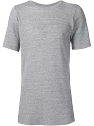 Judson Harmon Ribbed T Shirt Grey