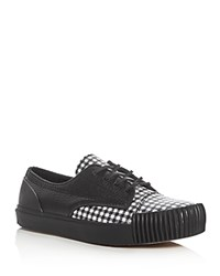 Alexander Wang Perry Plaid Print Lace Up Sneakers Multi