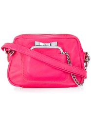 Sonia Rykiel By Chain Purse Satchel Pink And Purple