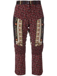 N 21 No21 Patchwork Cropped Trousers Red
