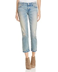 True Religion Cora Mid Rise Straight Jeans In Blue Dream Blue Dream Destroyed