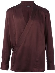 Balmain Wrap Shirt Pink Purple