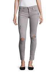 Ag Adriano Goldschmied Super Skinny Distressed Ankle Leggings Grey