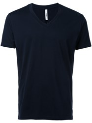 Attachment V Neck T Shirt Men Cotton 1 Blue