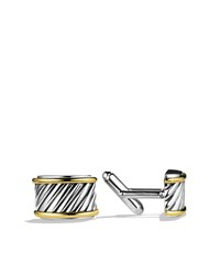 Cable Cigar Band Cuff Links With Gold David Yurman Brown