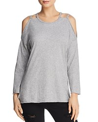 Michelle By Comune Strap Detail Cold Shoulder Tee Heather Gray