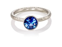 Malcolm Betts Women's Blue Sapphire Ring Silver