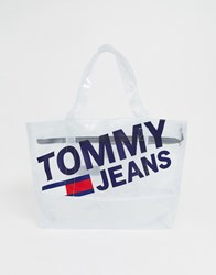 Tommy Jeans Shopper Bag With Logo White