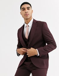 Rudie Plain Skinny Fit Suit Jacket Red