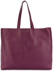 Orciani Shopping Tote Bag Leather Pink Purple