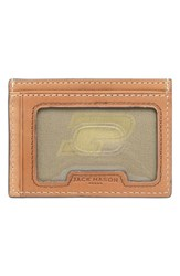 Men's Jack Mason Brand 'Gameday Purdue Boilermakers' Leather Card Case