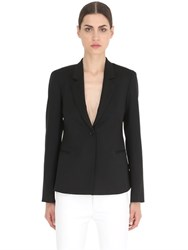 Salvatore Ferragamo Stretch Wool Jacket