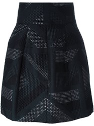 Etro High Waisted Textured Skirt Black