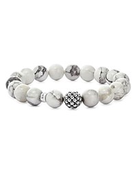Lagos Sterling Silver Maya Ball Beaded Howlite Bracelet 10Mm Gray