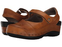Wolky Strap Cloggy Curry Vegi Leather Clog Shoes Brown