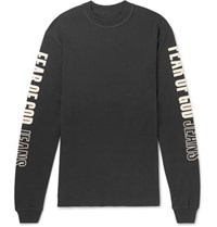 Fear Of God Oversized Printed Cotton Jersey T Shirt Black