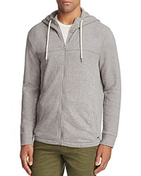 Boss Orange Zports Textured Zip Hoodie Sweatshirt Gray