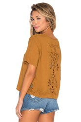 Obey Essex Woven Tee Tan