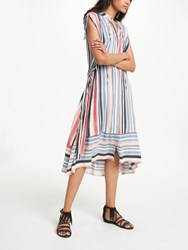 And Or Alma Printed Vertical Stripe Dress Multi