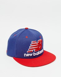 New Balance Courtside Snapback Cap Blue