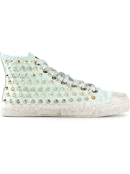 Gienchi Studded Hi Top Sneakers Green