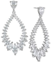 Jewel Badgley Mischka Silver Tone Cubic Zirconia Drop Earrings