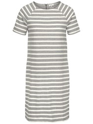 Fat Face Suzie Stripe Dress Grey Marl
