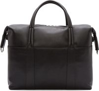 Maison Martin Margiela Black Smoothed Leather Classic Briefcase